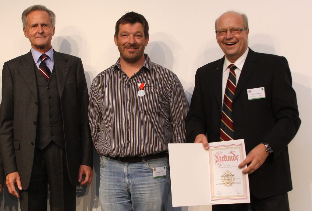 Präsident Heinz Berger, Alexander Nöckl und Bernd Doppler