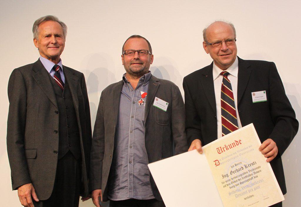 Präsident Heinz Berger, Gerhard Kreutz und Bernd Doppler
